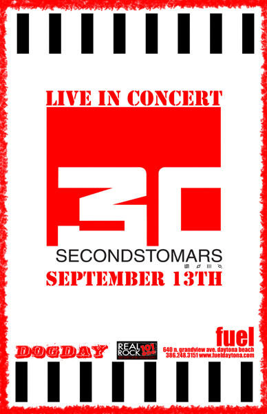 Live In Concert 30 Seconds To Mars 13 сентября